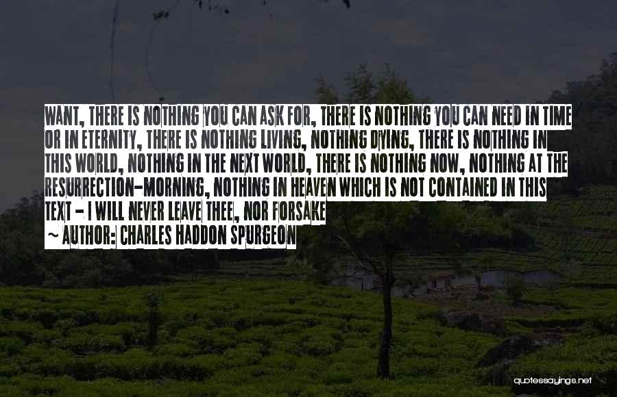 Dying For Nothing Quotes By Charles Haddon Spurgeon