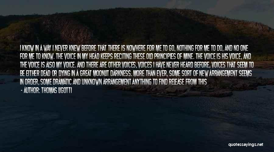Dying For Nothing Quotes By Thomas Ligotti