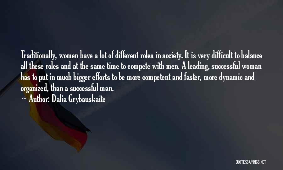 Dynamic Woman Quotes By Dalia Grybauskaite