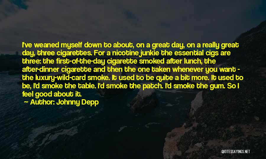 E Cigs Quotes By Johnny Depp