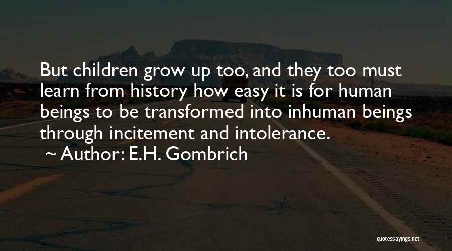 E.H. Gombrich Quotes 98481