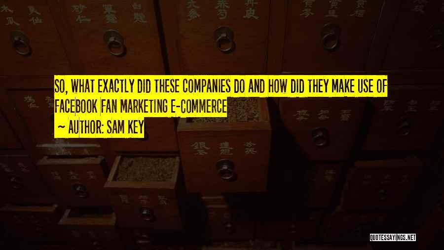 E-marketing Quotes By Sam Key