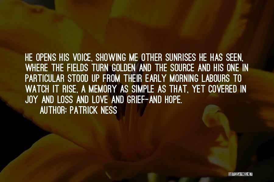Early To Rise Quotes By Patrick Ness