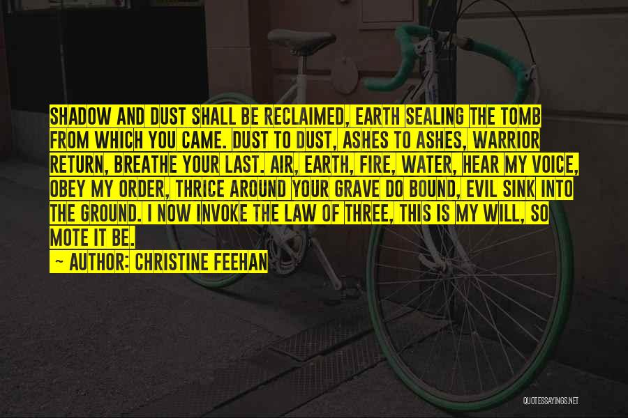 Earth Air Fire Water Quotes By Christine Feehan