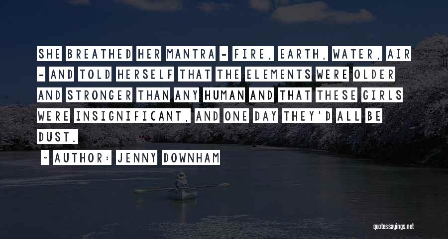 Earth Air Fire Water Quotes By Jenny Downham