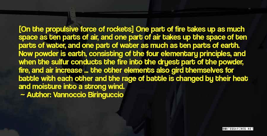 Earth Air Fire Water Quotes By Vannoccio Biringuccio