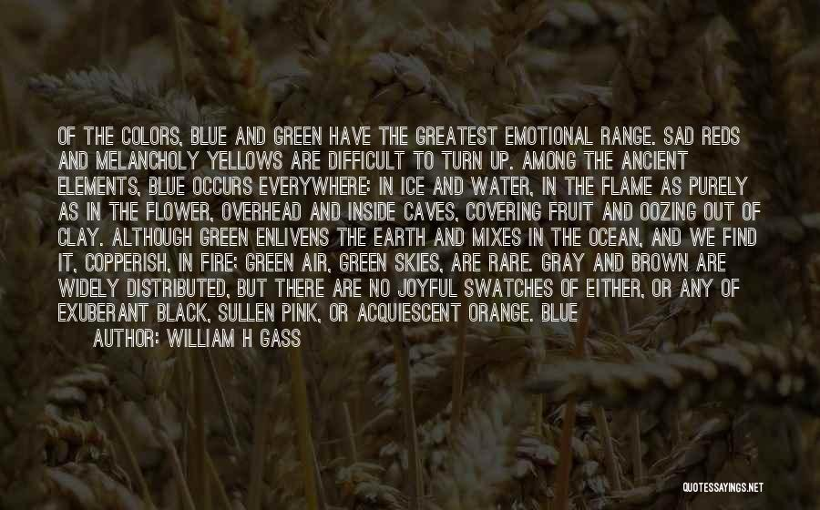 Earth Air Fire Water Quotes By William H Gass
