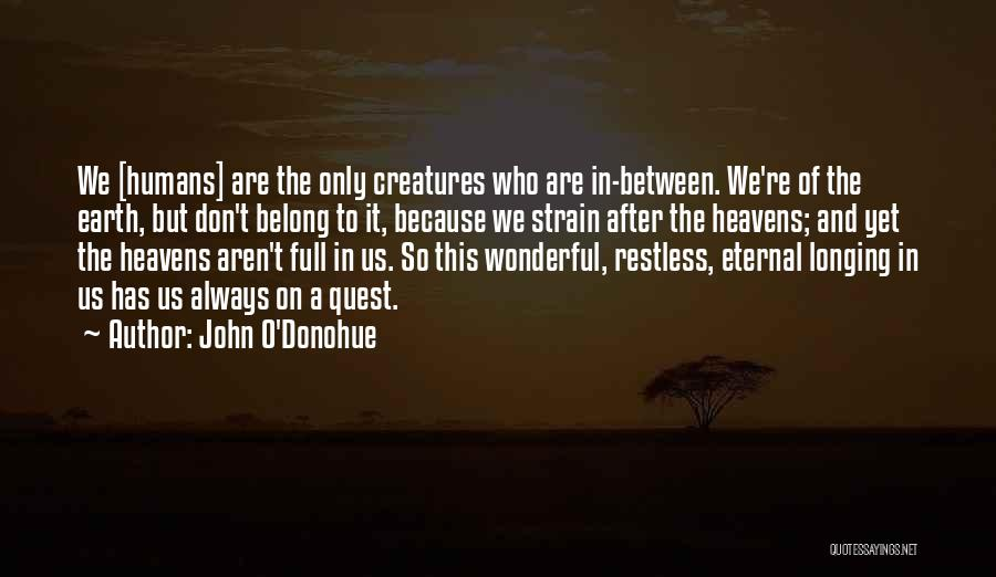 Earth And Humans Quotes By John O'Donohue