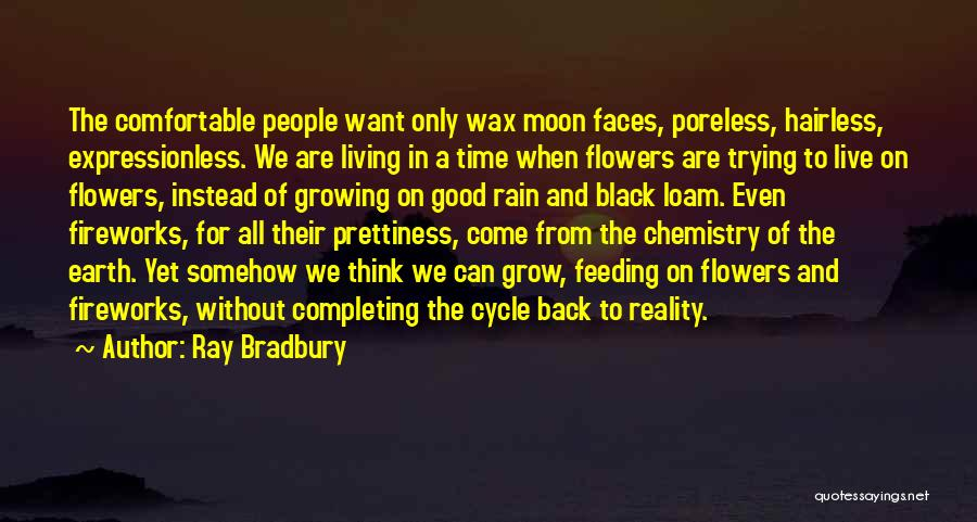 Earth And Moon Quotes By Ray Bradbury