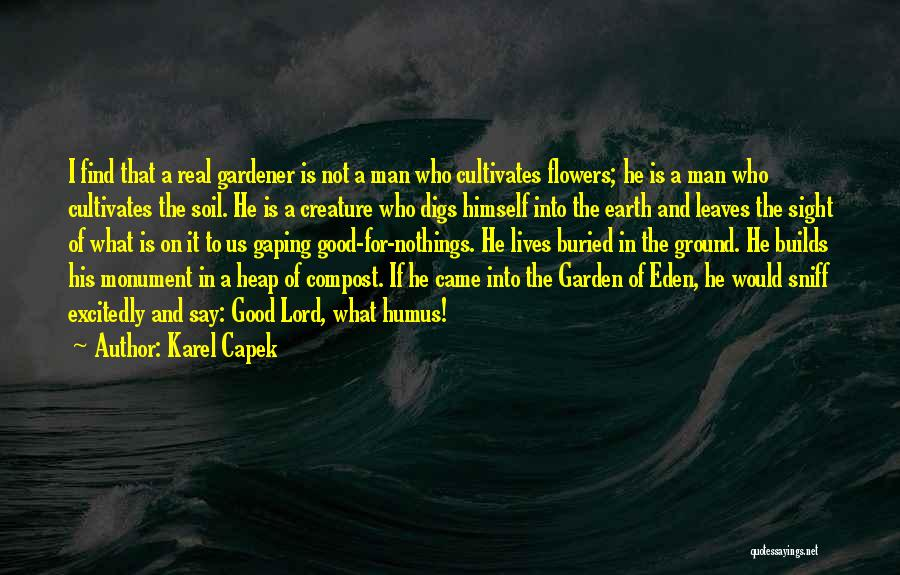 Earth Soil Quotes By Karel Capek