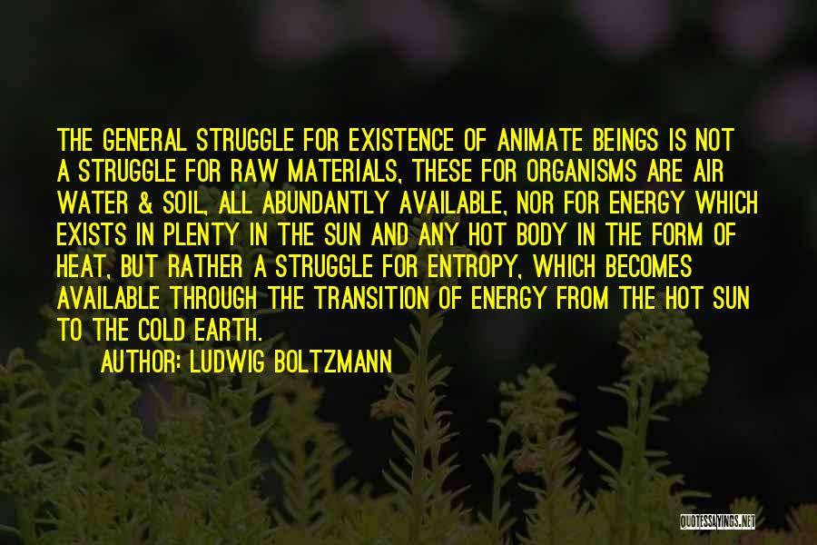 Earth Soil Quotes By Ludwig Boltzmann