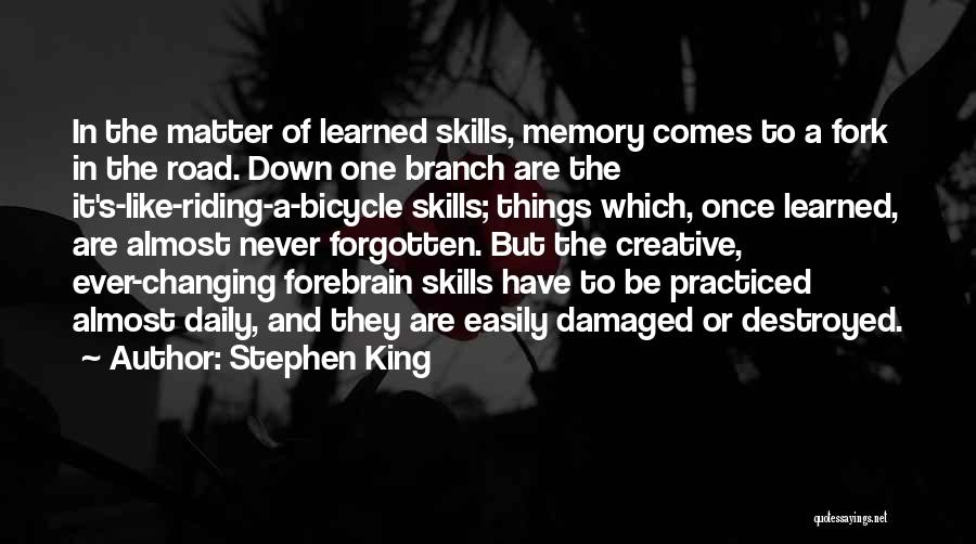 Easily Forgotten Quotes By Stephen King