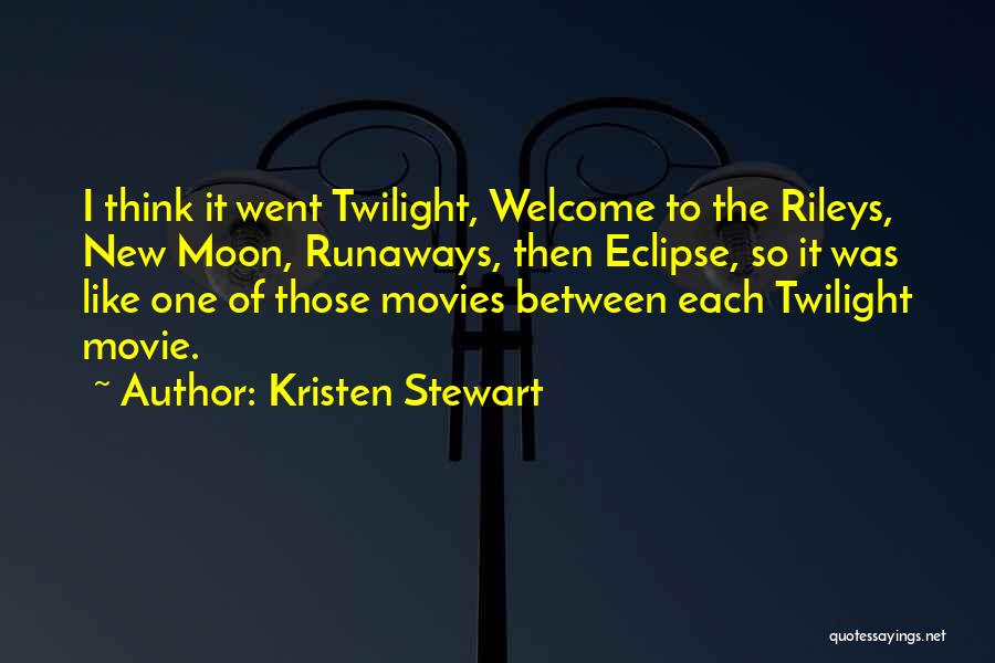 Eclipse Moon Quotes By Kristen Stewart