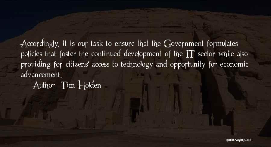 Economic Policies Quotes By Tim Holden