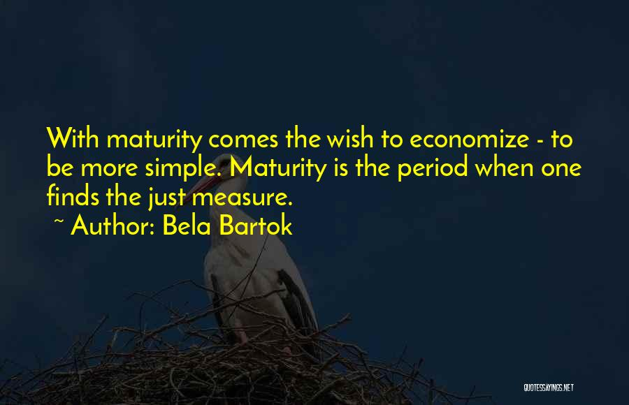 Economize Quotes By Bela Bartok