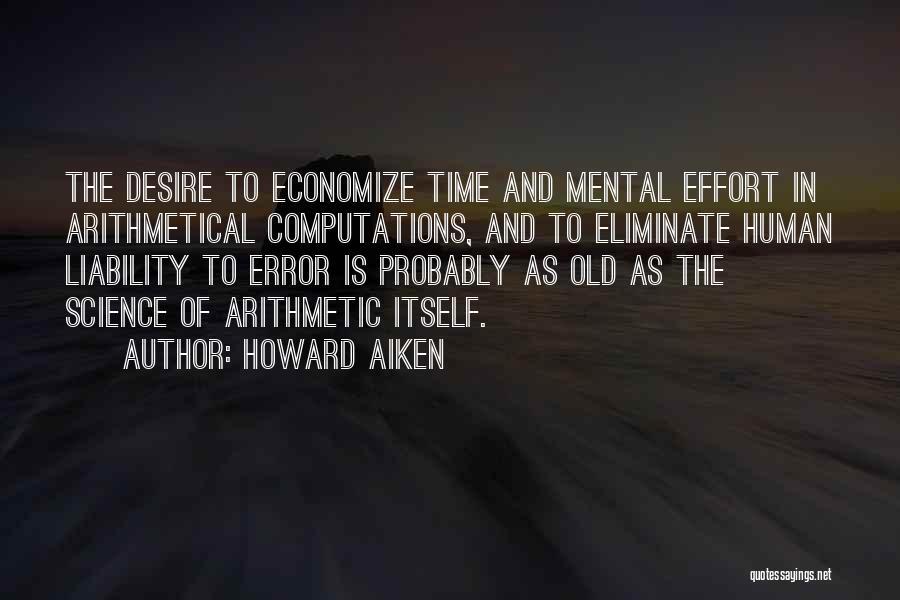 Economize Quotes By Howard Aiken