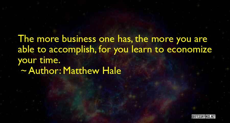 Economize Quotes By Matthew Hale