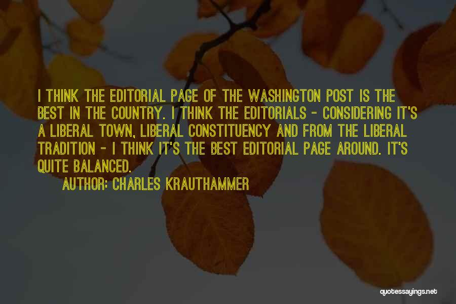 Editorials Quotes By Charles Krauthammer