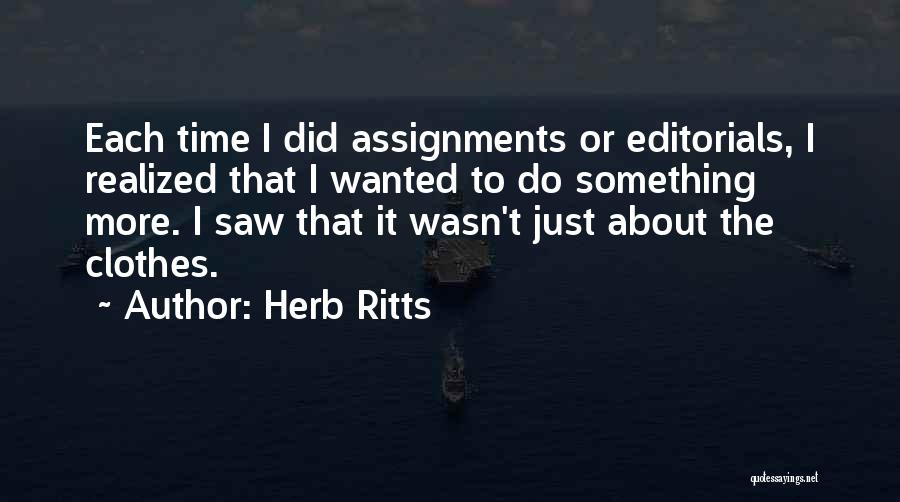 Editorials Quotes By Herb Ritts