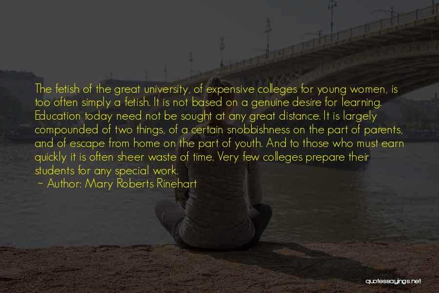 Education At Home Quotes By Mary Roberts Rinehart