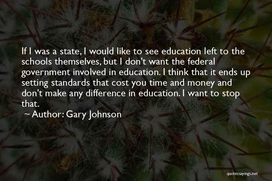 Education Cost Quotes By Gary Johnson