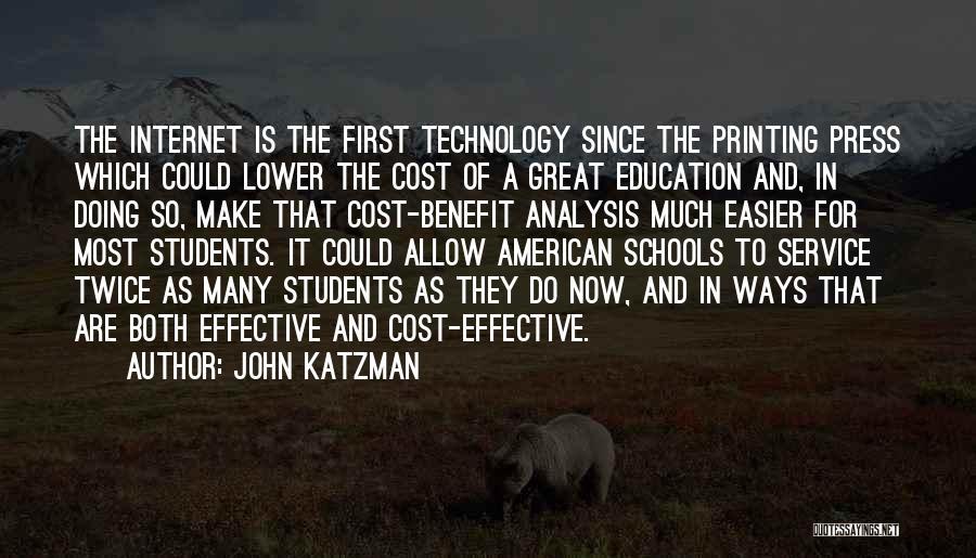 Education Cost Quotes By John Katzman
