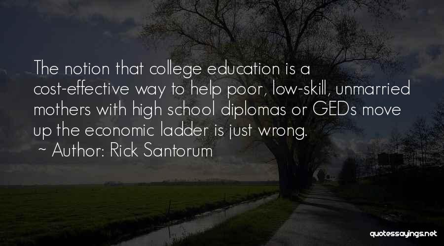 Education Cost Quotes By Rick Santorum