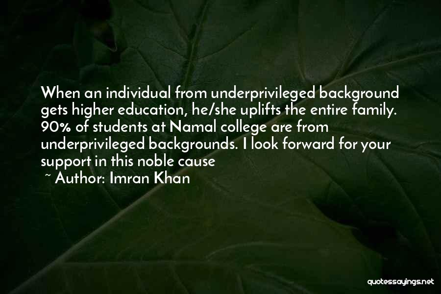 Education For Underprivileged Quotes By Imran Khan