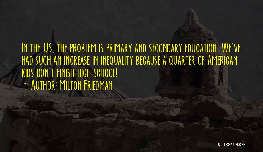 Education Inequality Quotes By Milton Friedman