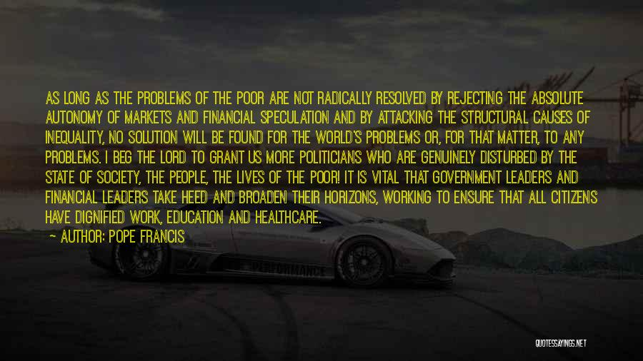 Education Inequality Quotes By Pope Francis