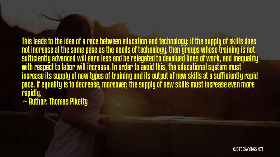 Education Inequality Quotes By Thomas Piketty