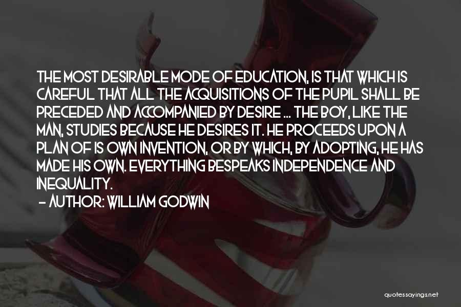 Education Inequality Quotes By William Godwin
