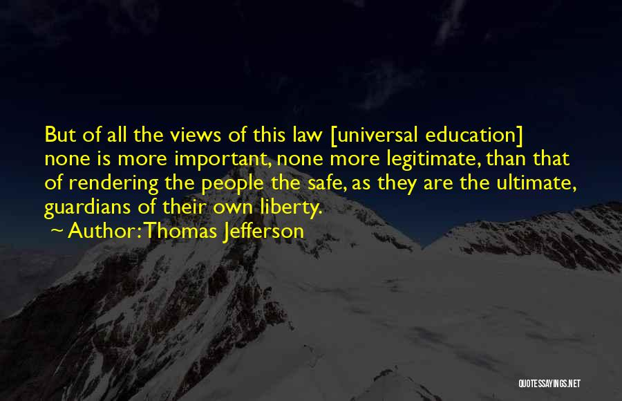 Education Is More Important Quotes By Thomas Jefferson