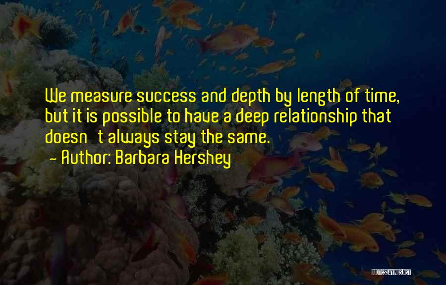 Education Is Success Quotes By Barbara Hershey