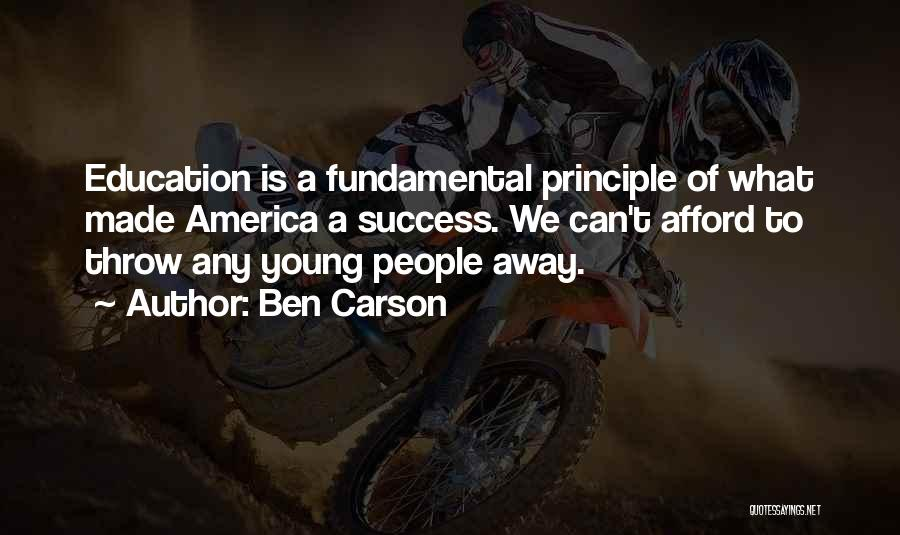 Education Is Success Quotes By Ben Carson