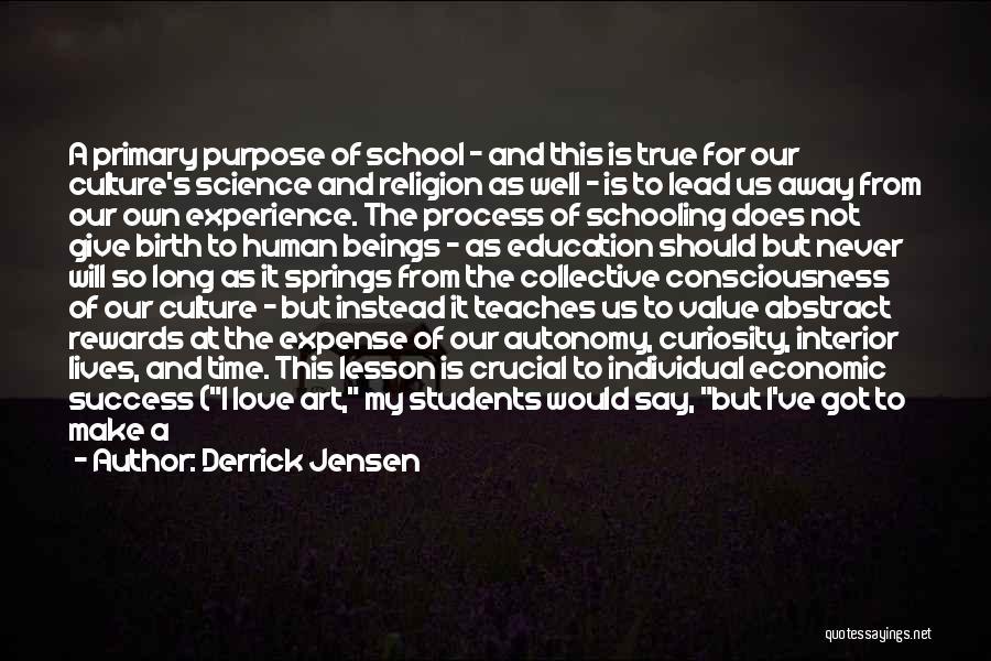 Education Is Success Quotes By Derrick Jensen