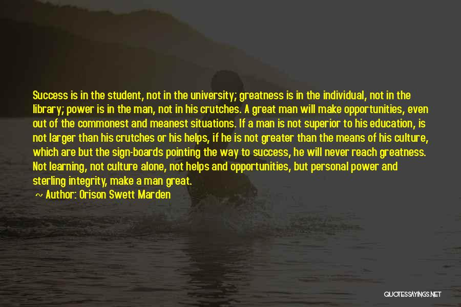 Education Is Success Quotes By Orison Swett Marden