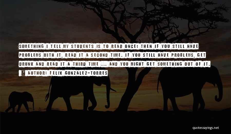 Education Problems Quotes By Felix Gonzalez-Torres