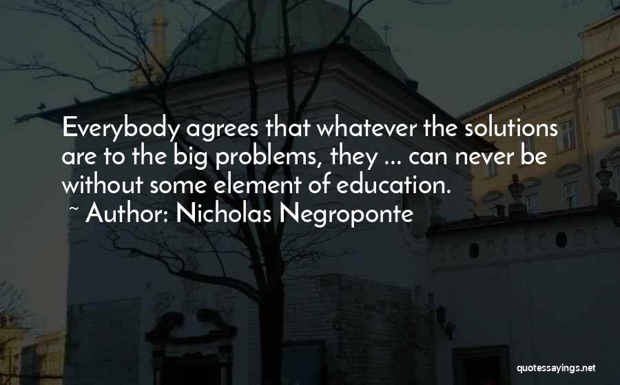 Education Problems Quotes By Nicholas Negroponte