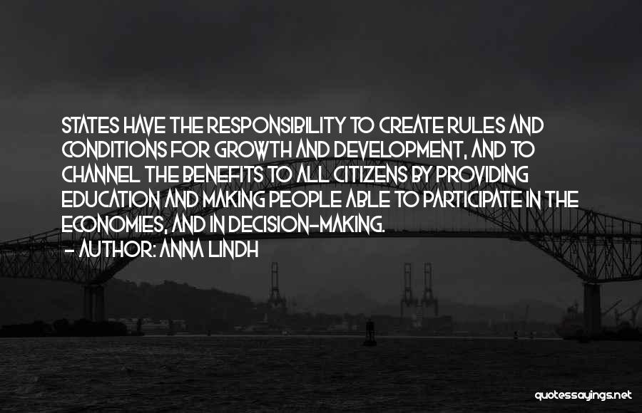 Education To All Quotes By Anna Lindh
