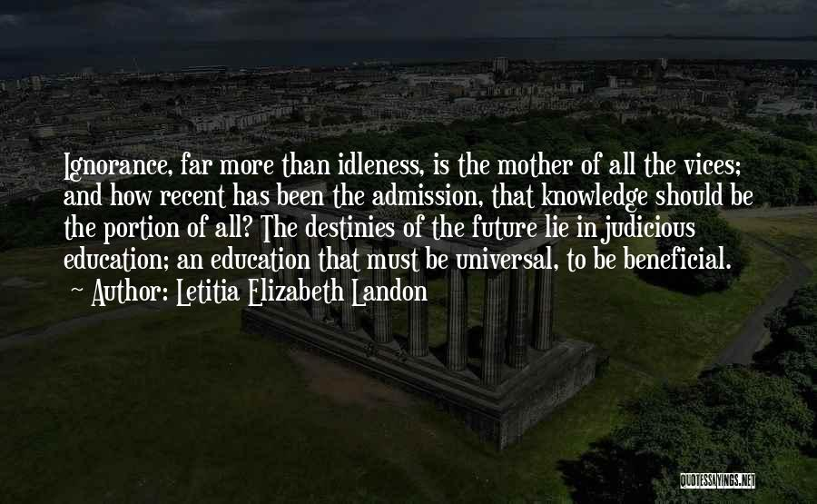 Education To All Quotes By Letitia Elizabeth Landon