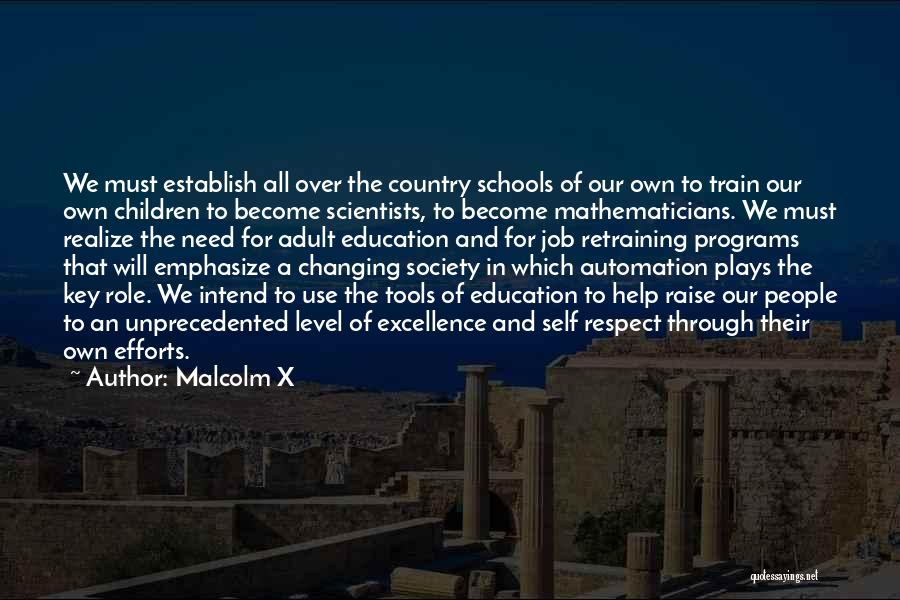 Education To All Quotes By Malcolm X