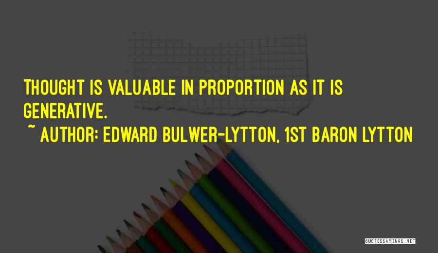 Edward Bulwer-Lytton, 1st Baron Lytton Quotes 2056725