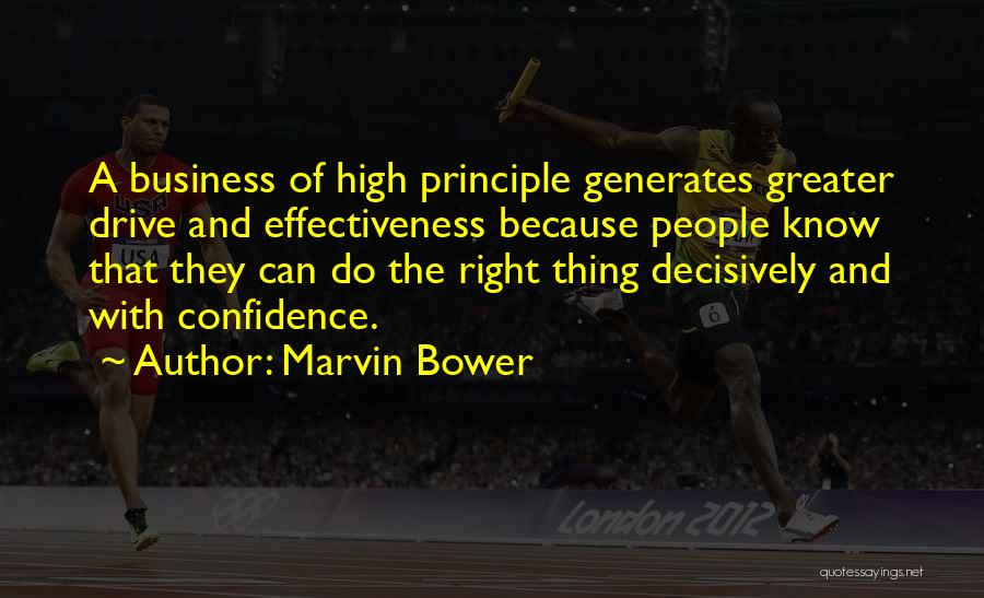 Effectiveness Quotes By Marvin Bower