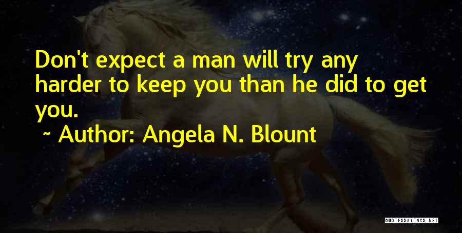 Effort For Relationship Quotes By Angela N. Blount