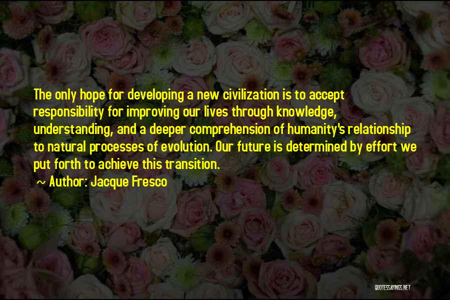 Effort For Relationship Quotes By Jacque Fresco