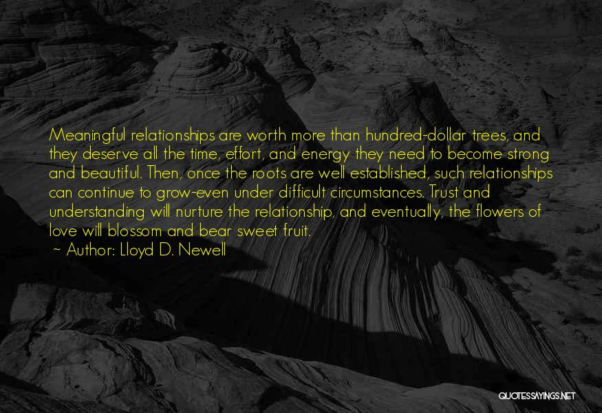 Effort For Relationship Quotes By Lloyd D. Newell