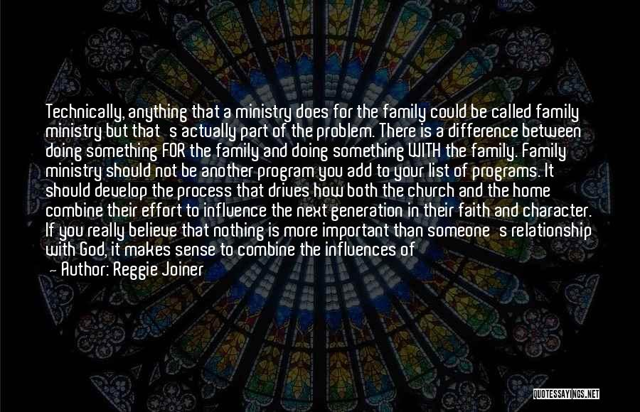Effort For Relationship Quotes By Reggie Joiner