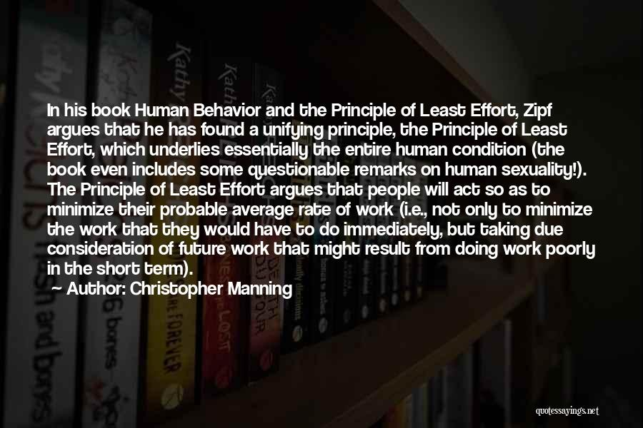 Effort In Work Quotes By Christopher Manning