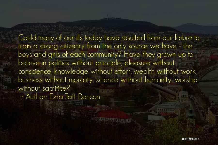 Effort In Work Quotes By Ezra Taft Benson